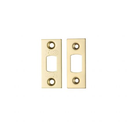 Zoo Hardware Architectural Mortice Dead Bolt Replacement Stirke Plates Polished Brass - ZLAP02PVD